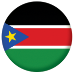 South Sudan Country Flag 58mm Button Badge